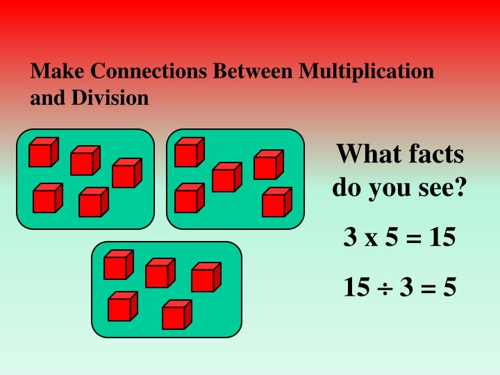 Make Connections Between Multiplication and Division