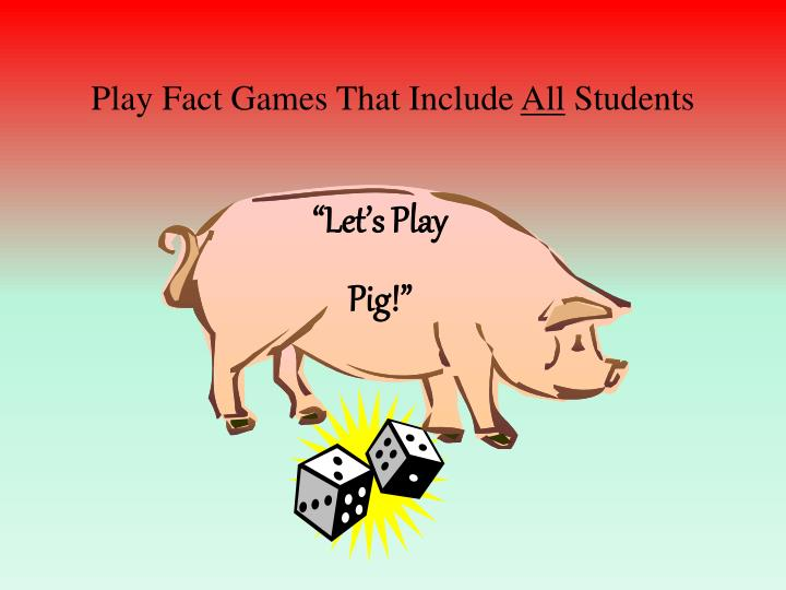 Play Fact Games That Include