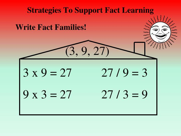 Strategies To Support Fact Learning