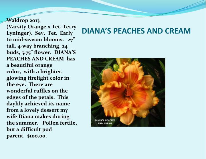 DIANA'S PEACHES AND CREAM