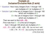 example on inclusion exclusion rule 2 sets