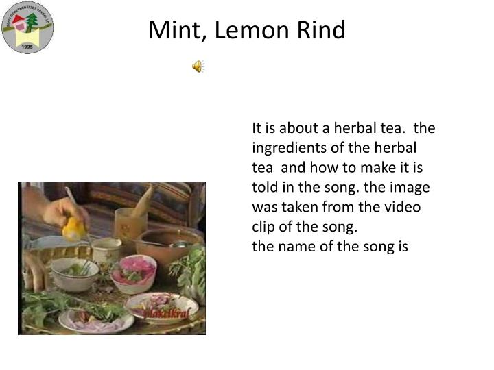 Mint, Lemon Rind