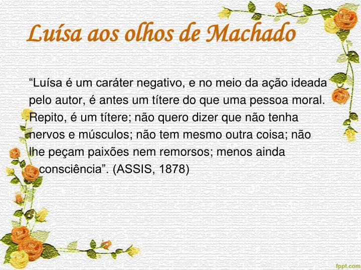 Luísa aos olhos de Machado
