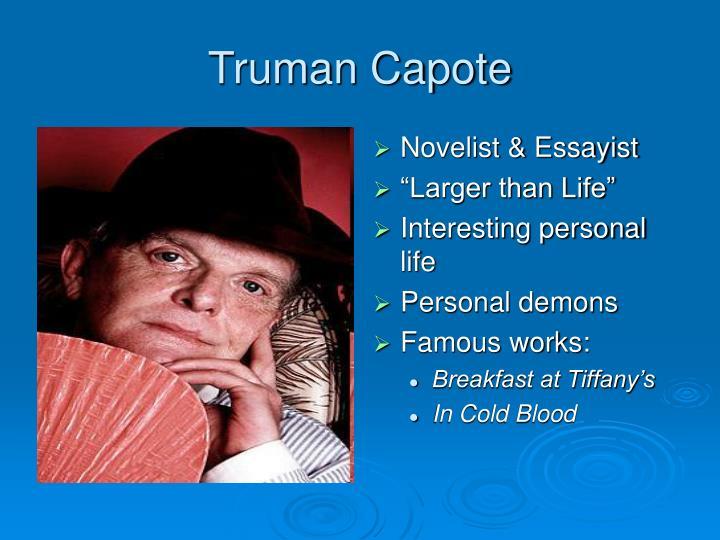 Novelist & Essayist
