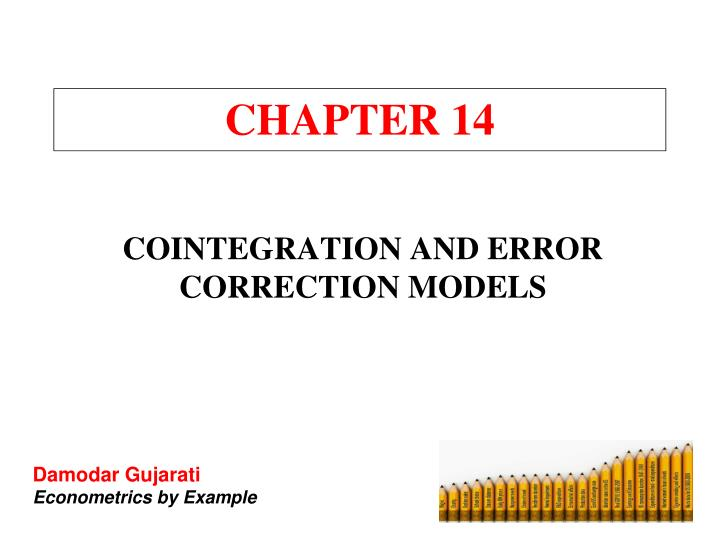 an essay on cointegration and error correction models