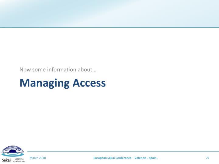Managing Access