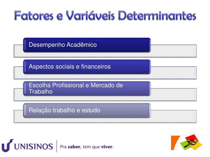Fatores e Variáveis Determinantes