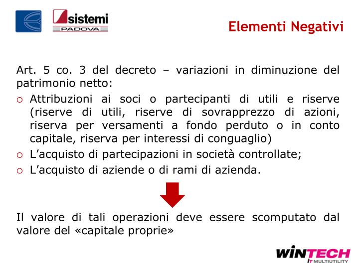 Elementi Negativi