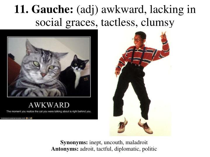 11. Gauche:
