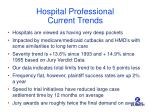 hospital professional current trends