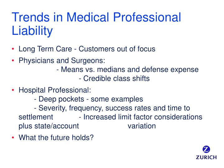 Trends in Medical Professional Liability