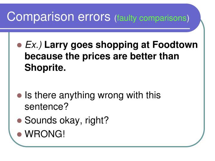 Comparison errors