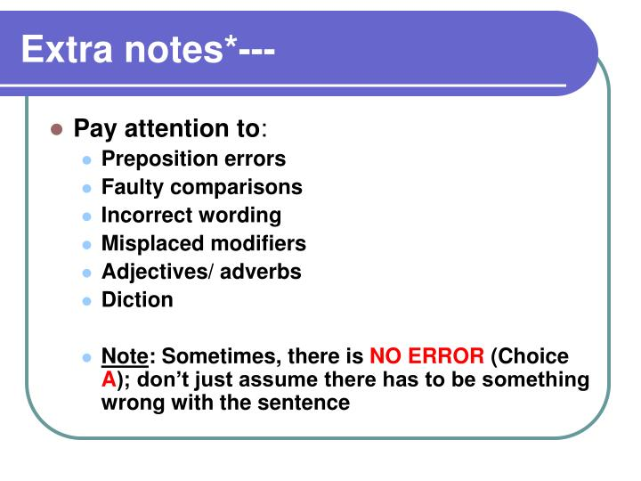 Extra notes*---