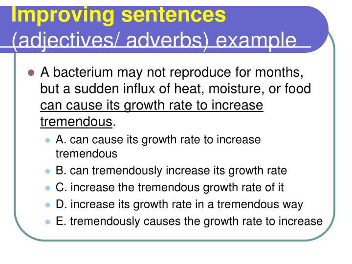 Improving sentences