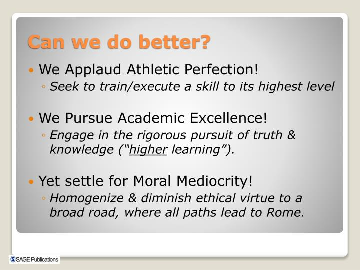 We Applaud Athletic Perfection!