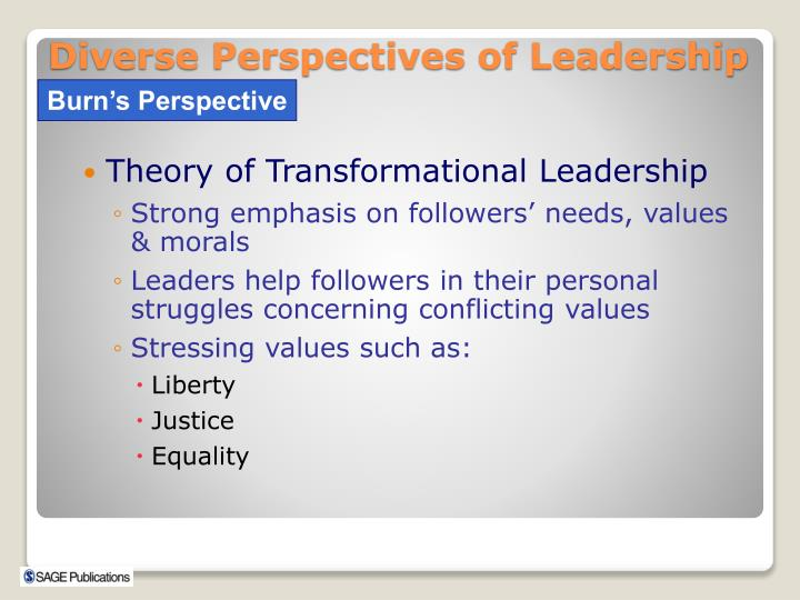 Theory of Transformational Leadership