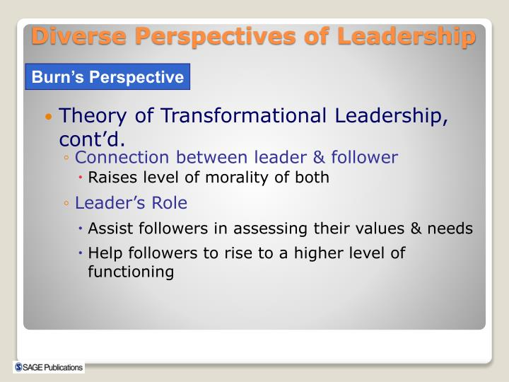 Theory of Transformational Leadership, cont'd.