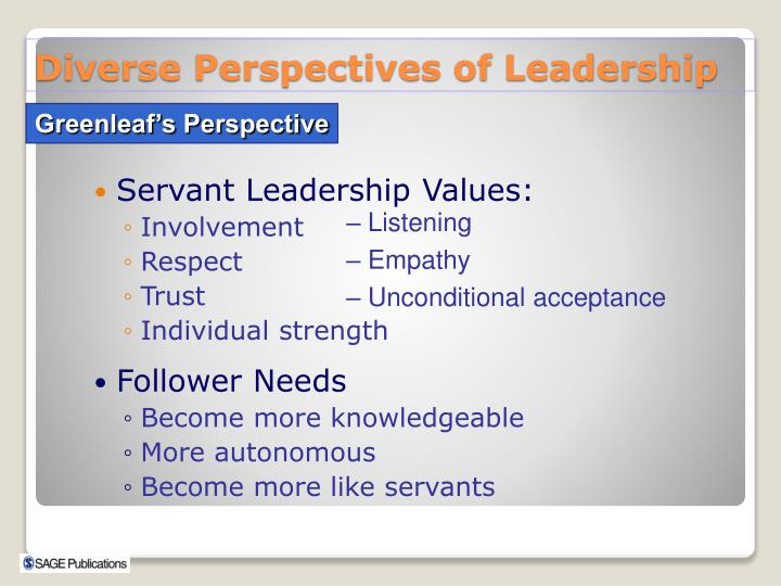 Servant Leadership Values: