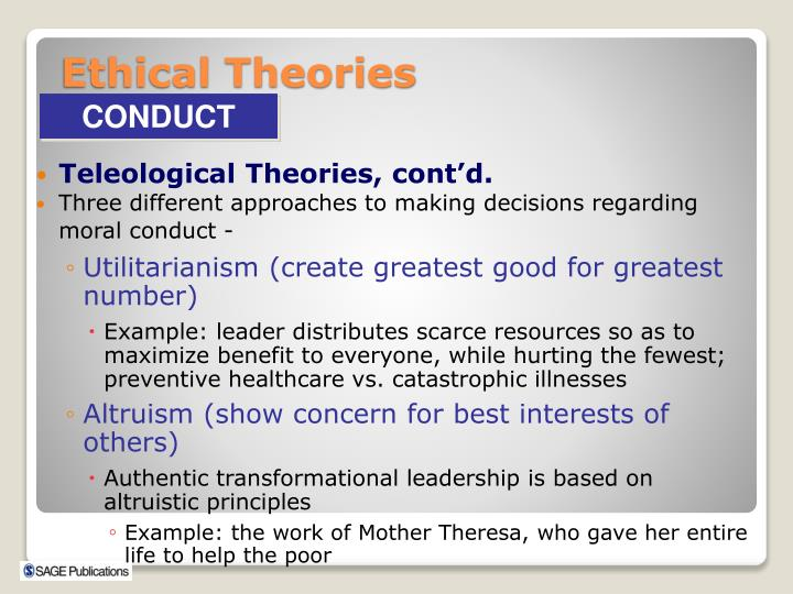 Teleological Theories, cont'd.