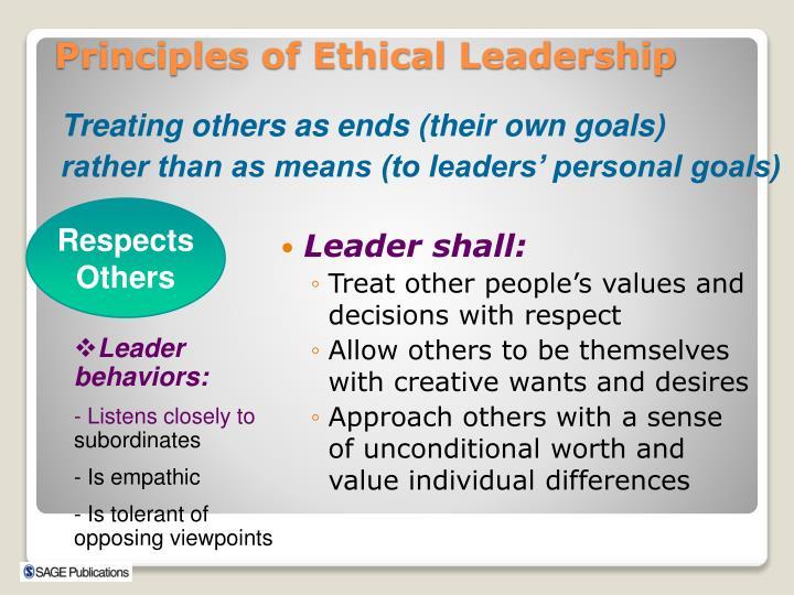Leader shall: