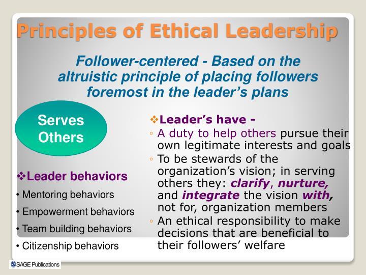 Leader's have -