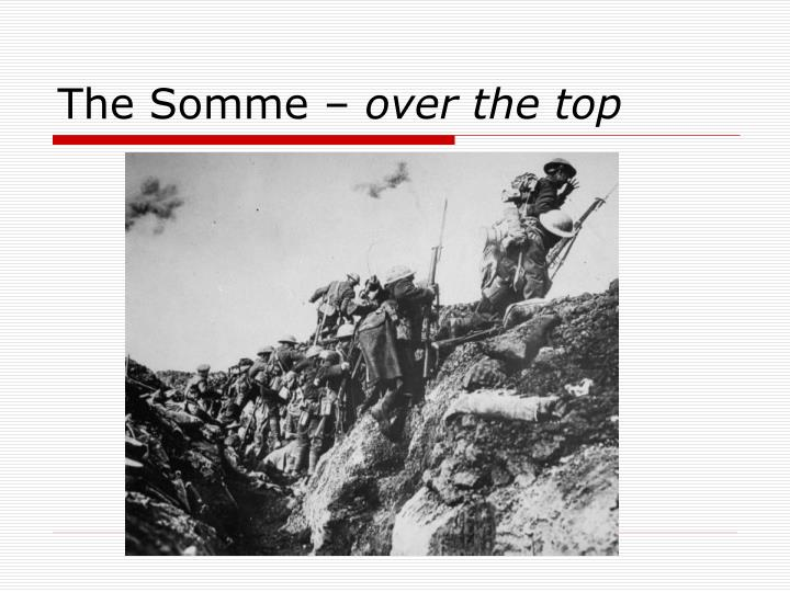 The Somme –