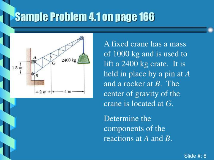 Sample Problem 4.1 on page 166