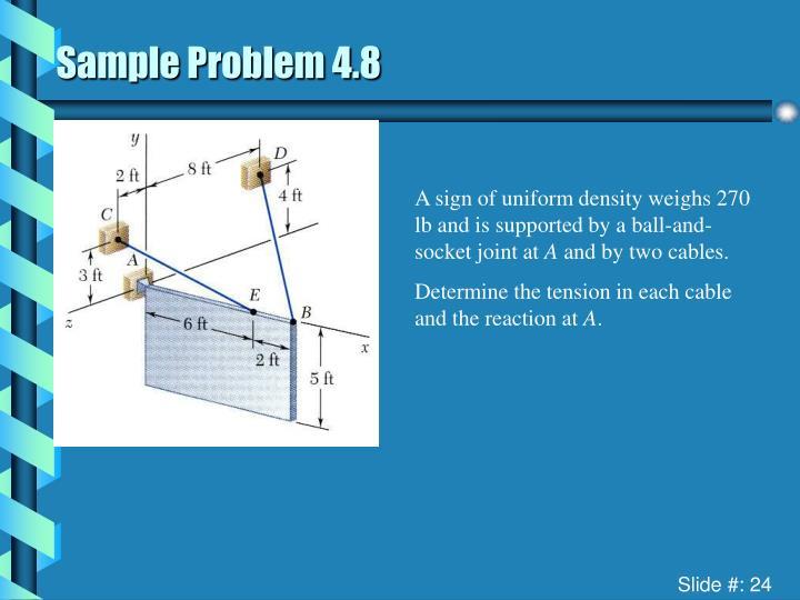 Sample Problem 4.8