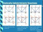 statically indeterminate reactions