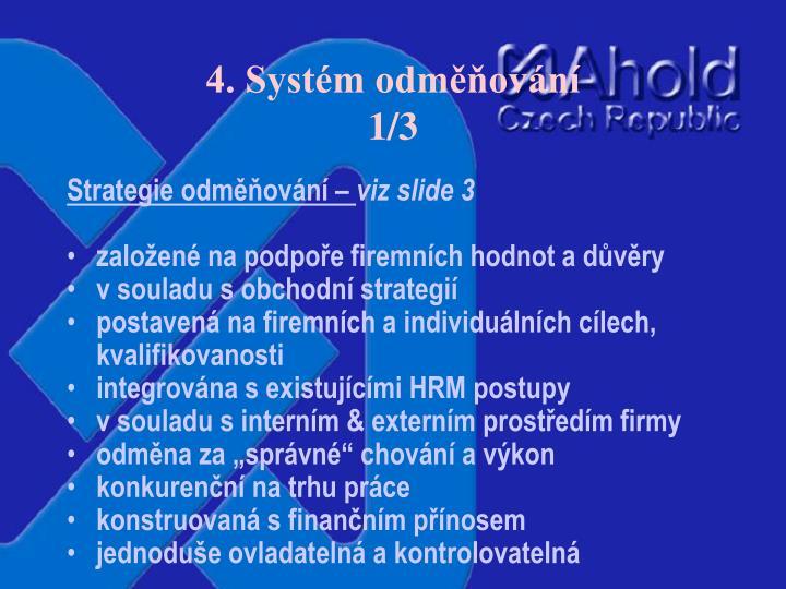 4. Systém odměňování