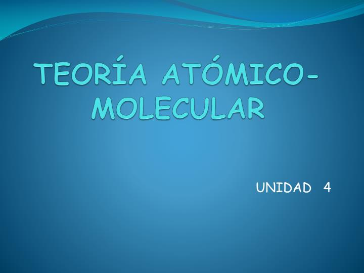 Teor a at mico molecular