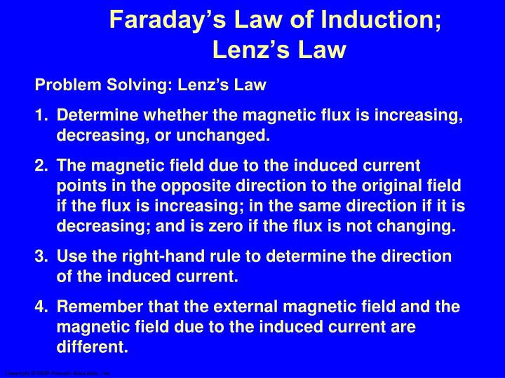 Faraday's Law of Induction;