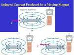 induced current produced by a moving magnet
