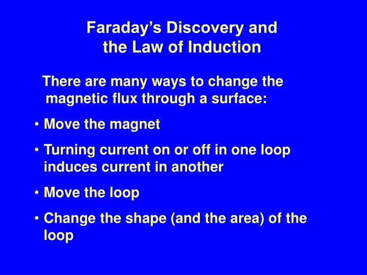 Faraday's Discovery and
