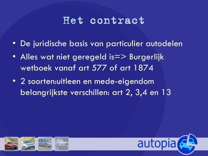 Het contract
