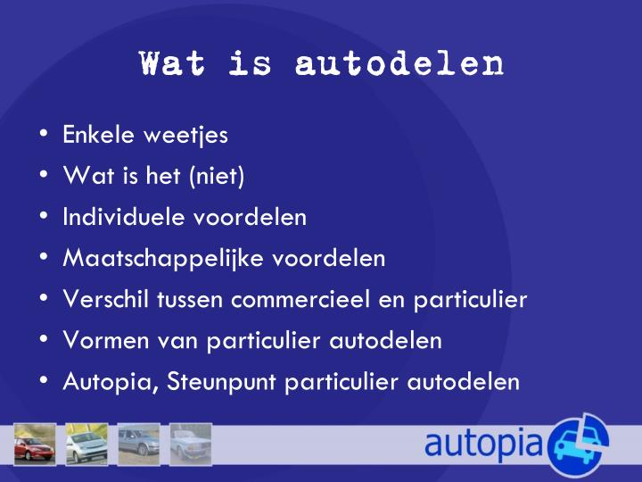 Wat is autodelen