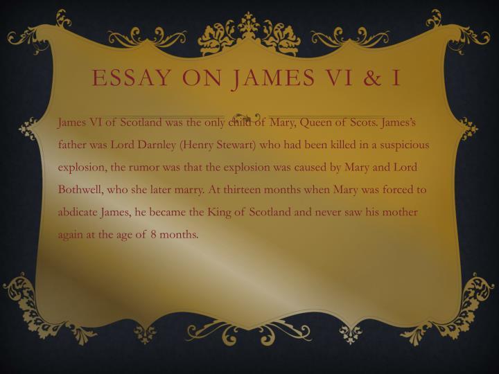 Essay on James vi & I