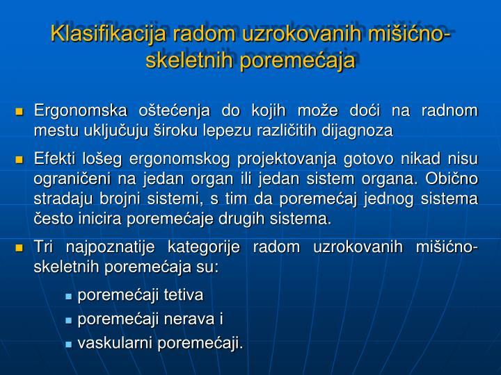 Klasifikacija radom uzrokovanih mišićno-skeletnih poremećaja