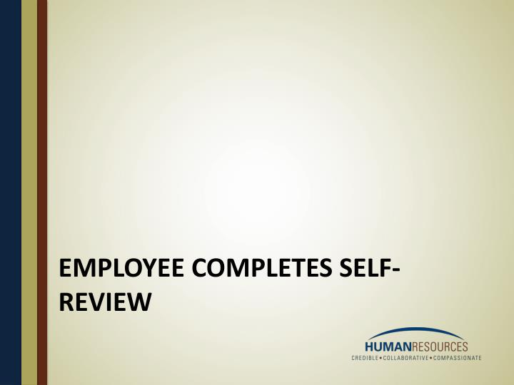 Employee completes self-review
