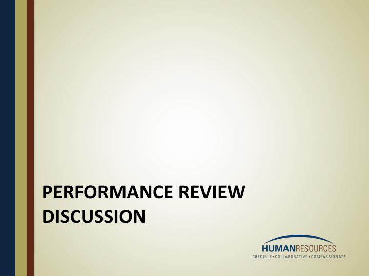 Performance review discussion