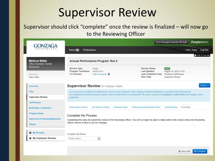 Supervisor Review