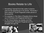 books relate to life