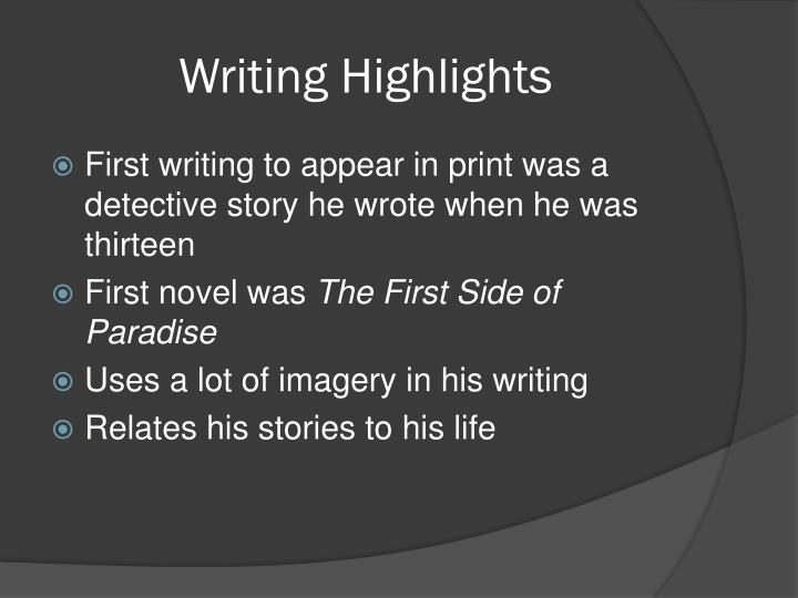 Writing Highlights