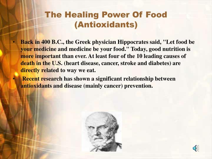 The healing power of food antioxidants