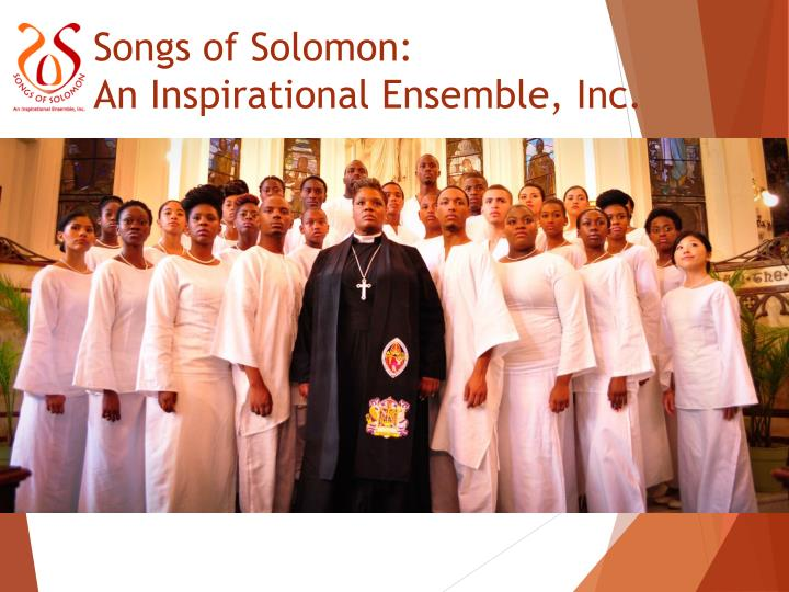 Songs of solomon an inspirational ensemble inc