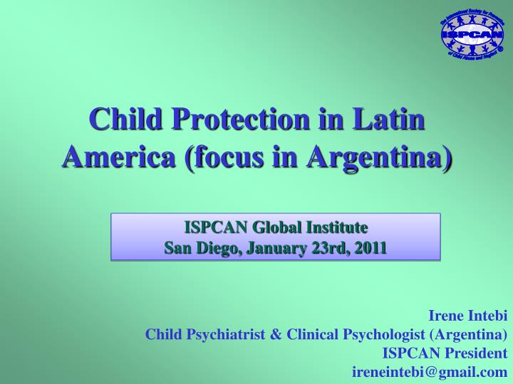 Child protection in latin america focus in argentina