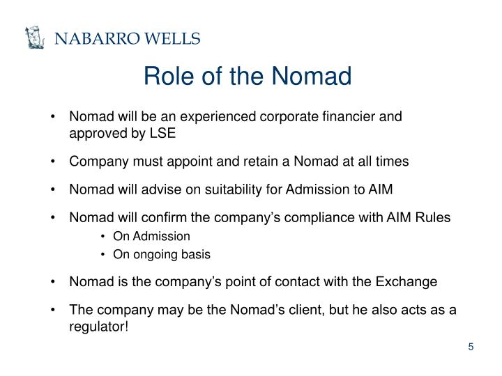 Role of the Nomad