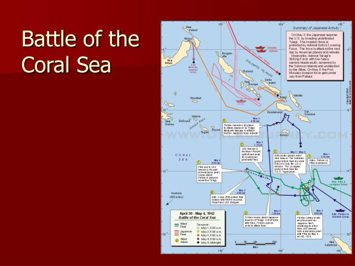 importance of the battle of coral The role of battle of the coral sea in the history of the united states of america.