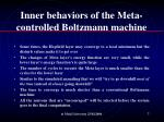 inner behaviors of the meta controlled boltzmann machine