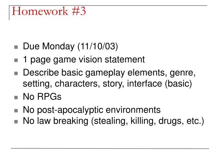 Homework #3